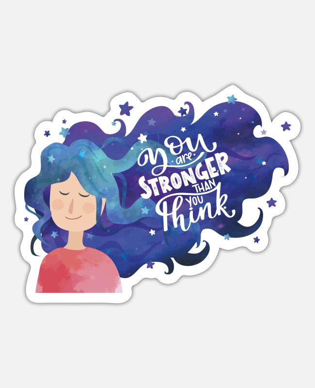 Happy Stickers - You are stronger than you think - Sticker white matte