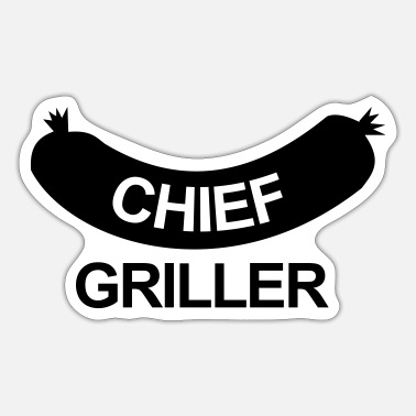 Chef-kok Chief Griller - Sticker