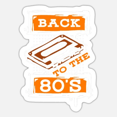 Space 80er Disco Nostalgie - Sticker