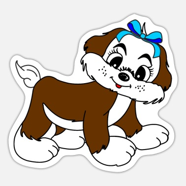 Doux Sweet sweet little dog for children 2 - Sticker