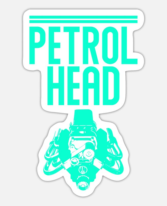 Quad Stickers - Petrolhead Tuning Biker Motorsport - Sticker white matte