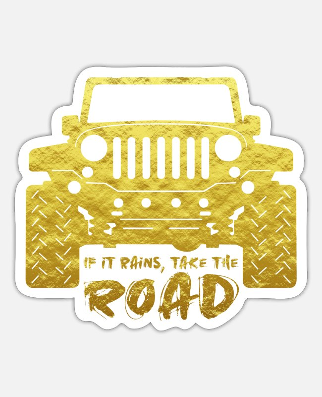Adventure Stickers - Jeep off road - Sticker white matte