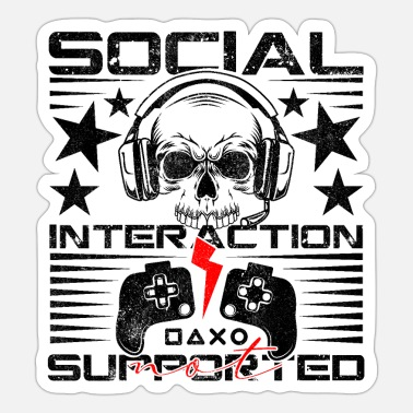 Loneliness Social Interaction Introvert gamer - Sticker