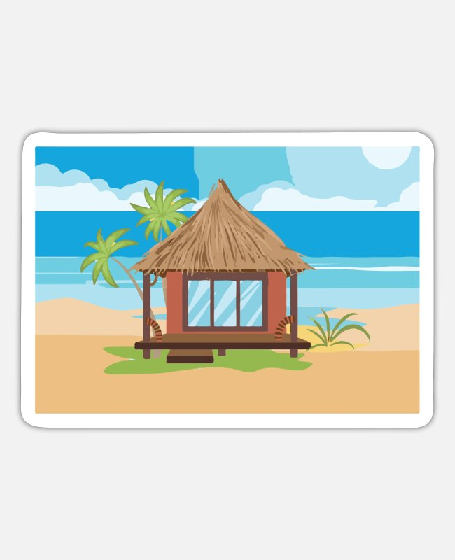 Water Stickers - to travel - Sticker white matte