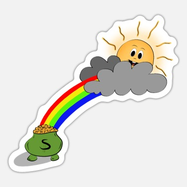 Pot of gold at the end of the rainbow - Sticker