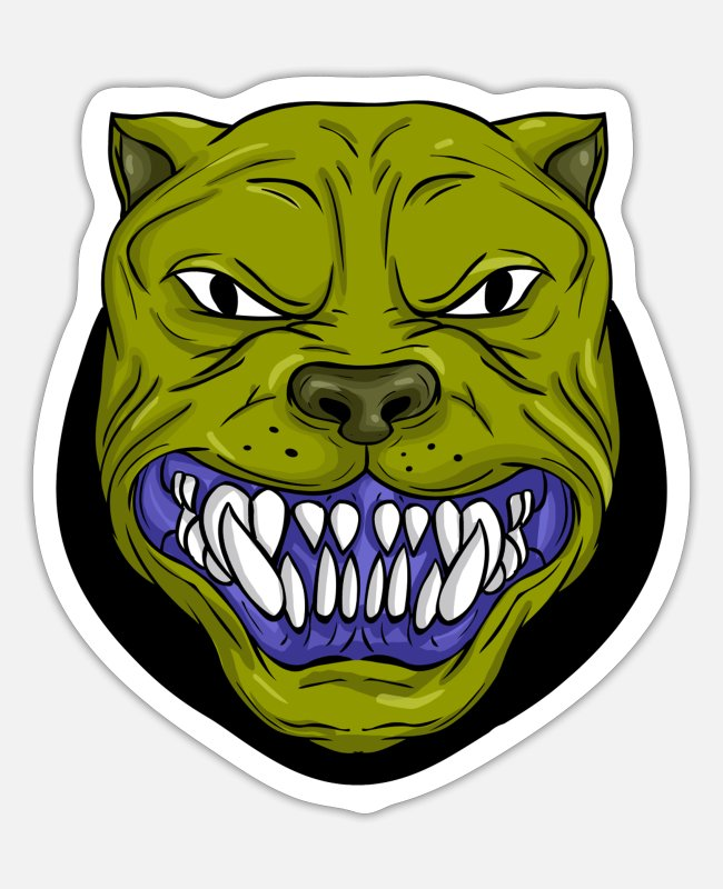Creepy Stickers - monster - Sticker white matte