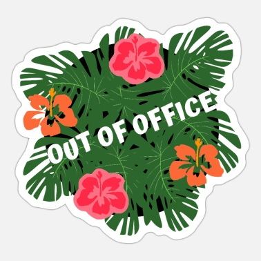 Out Of Office out of office tropical - Sticker
