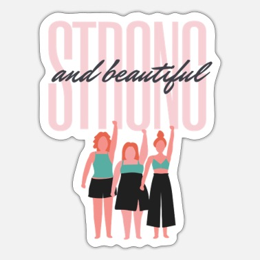 Frauentag Strong Beautiful Girlpower - Sticker