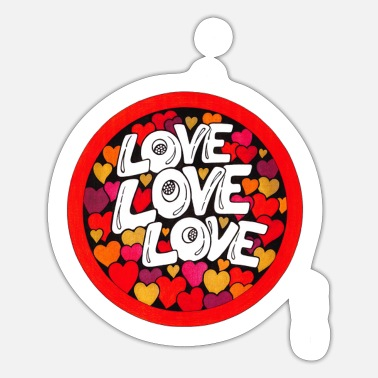 Love Love Love - Sticker