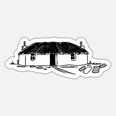 Thatched Cottage Scottish Blackhouse - Sticker