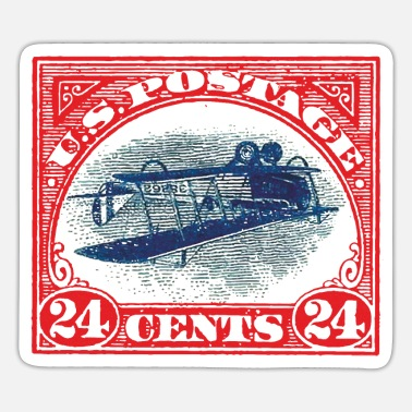 Postage US Postage 24 Cents Inverted postage stamp - Sticker