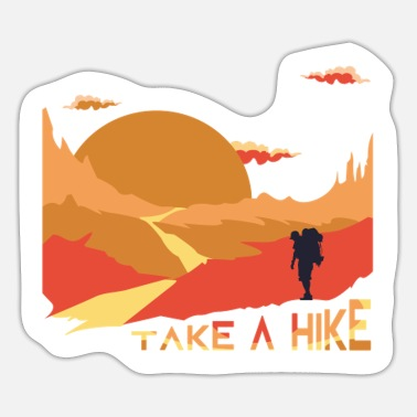 Leisure Activity Cool Leisure Activity in the Mountains - Take a - Sticker
