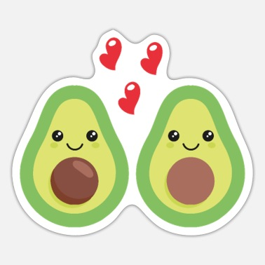 Love Each Other Two avocados that love each other. - Sticker