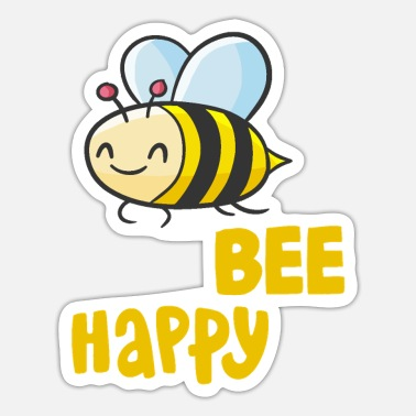 Bee Happy Biene Bee Happy Honig Imker Bee Sommer Comic - Sticker