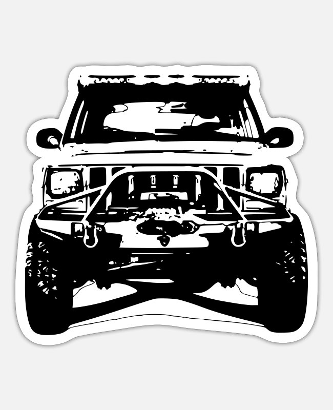 Dream Stickers - Jeep Cherokee XJ - Sticker white matte