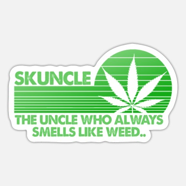 Skunkle Eceptional Tío guapo que le gusta Weed F - Pegatina