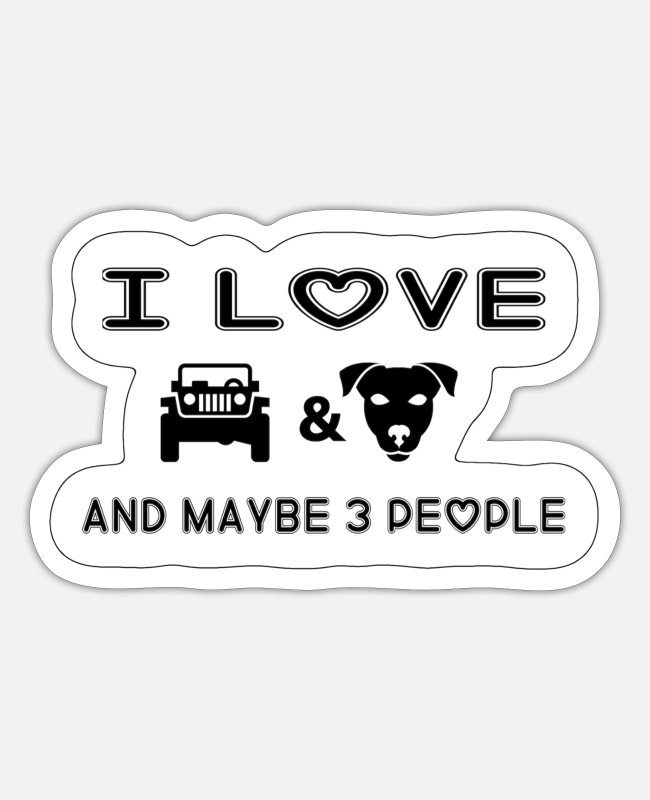 Dog Friendly Stickers - Jeep and dogs - Sticker white matte