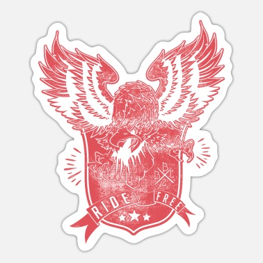 Suit Biker Design Wings Of Freedom passionate - Sticker