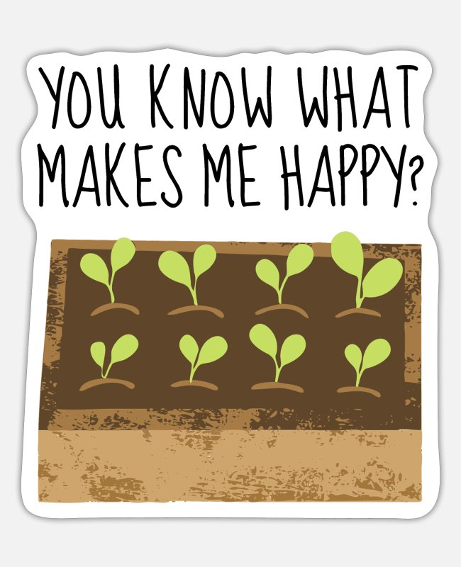 Nature Stickers - Happy plant plants seedling seedling - Sticker white matte