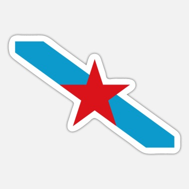 Nationalistisch Nationalistische Flagge Estreleira Galiza - Sticker