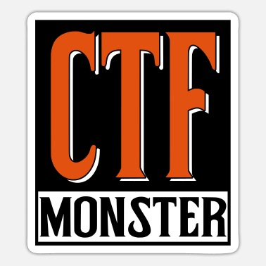 Ctf ctf monster nerd gamer camper - Sticker