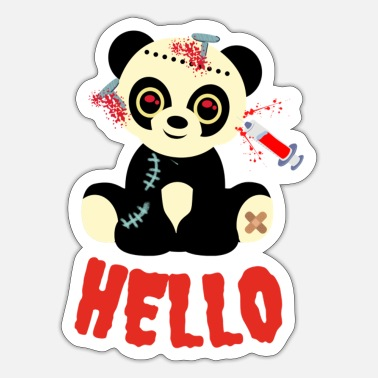 Unusual Panda hello -unusual - Sticker