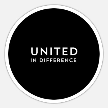 United UNITED IN DIFFERENCE - Sticker