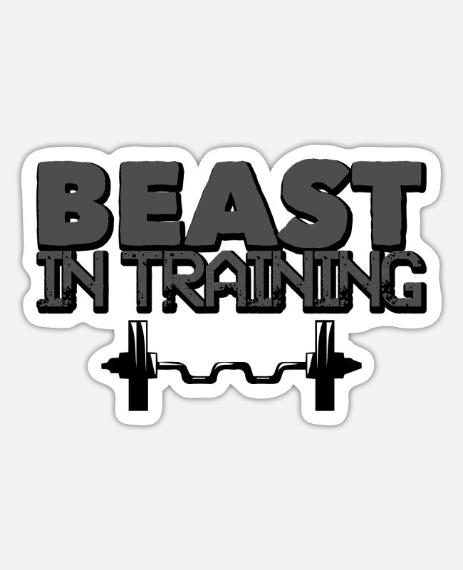 Building Stickers - Gym Beast in Training Fitness Gift - Sticker mat wit