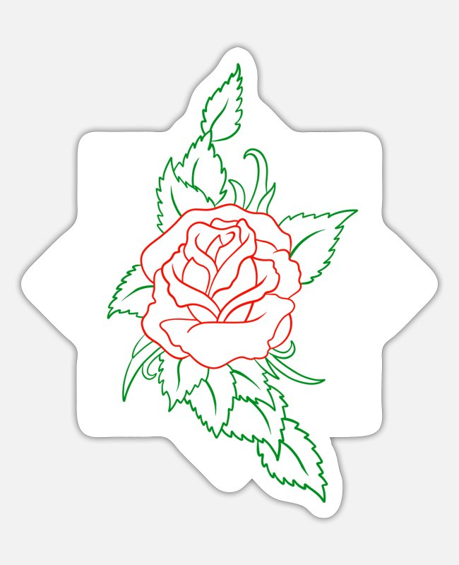 Garden Stickers - Be Like A Flower - colored - Sticker white matte