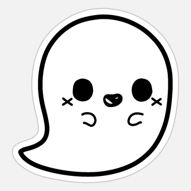 Haunted House Cute ghost castle ghost - Sticker
