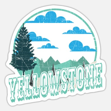 Helped Dome Yellowstone National Park Outdoor Hiking - Sticker