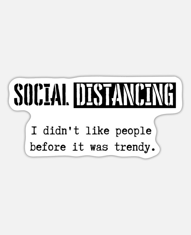 Christmas Stickers - Social distancing - keep your distance - Sticker white matte