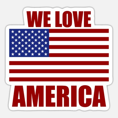 We love America - Sticker