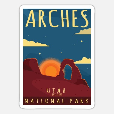 Helped Dome Arches National Park Utah-Hiking Camping Gift - Sticker