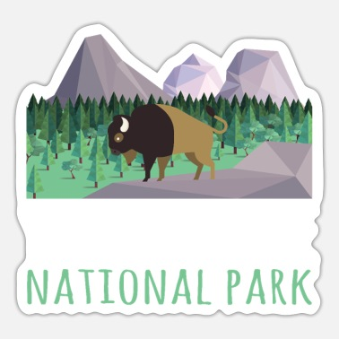 Helped Dome US Bison Buffalo Yellowstone National Park - Sticker