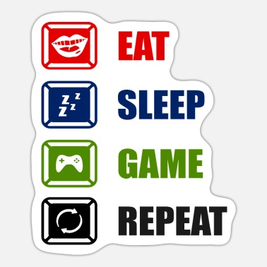 Clan Eat Sleep Game Repeat - Sticker
