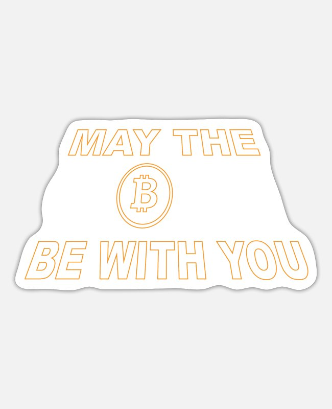 Trade Stickers - May the Coin be with you ByTheManzanitas - Sticker white matte