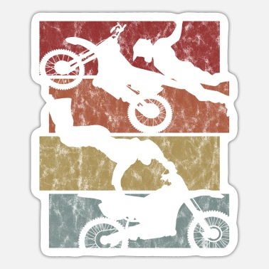 Bike Motorcycle retro stunt enduro motorcross motocross - Sticker