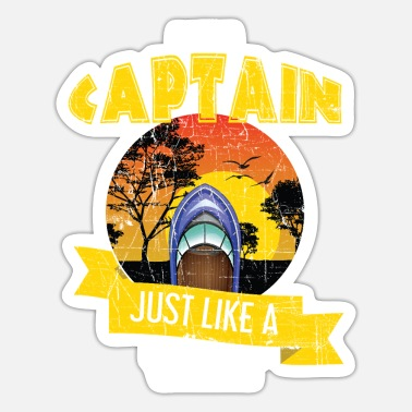 Sail Funny Sailing Boating Pontoon Captain - Sticker