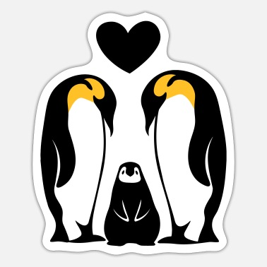 Famile Family Family Famille penguin family Penguins - Sticker