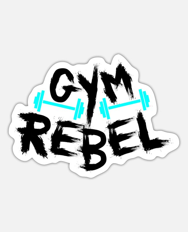 Rebellion Sticker - Gym Rebel - Sticker Mattweiß