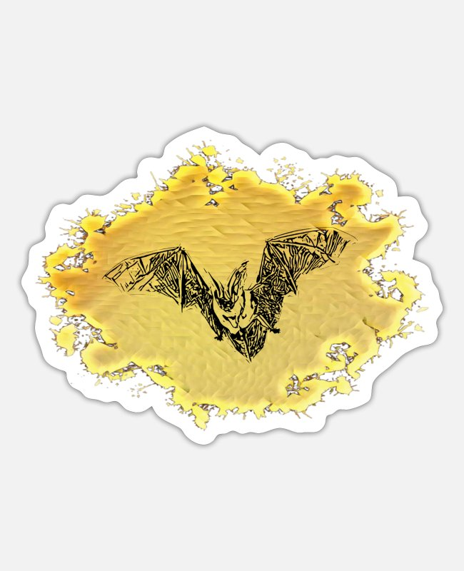 Mammal Stickers - bat - Sticker white matte