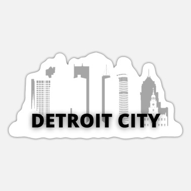 Motor City detroit city skyscraper skyline - Sticker