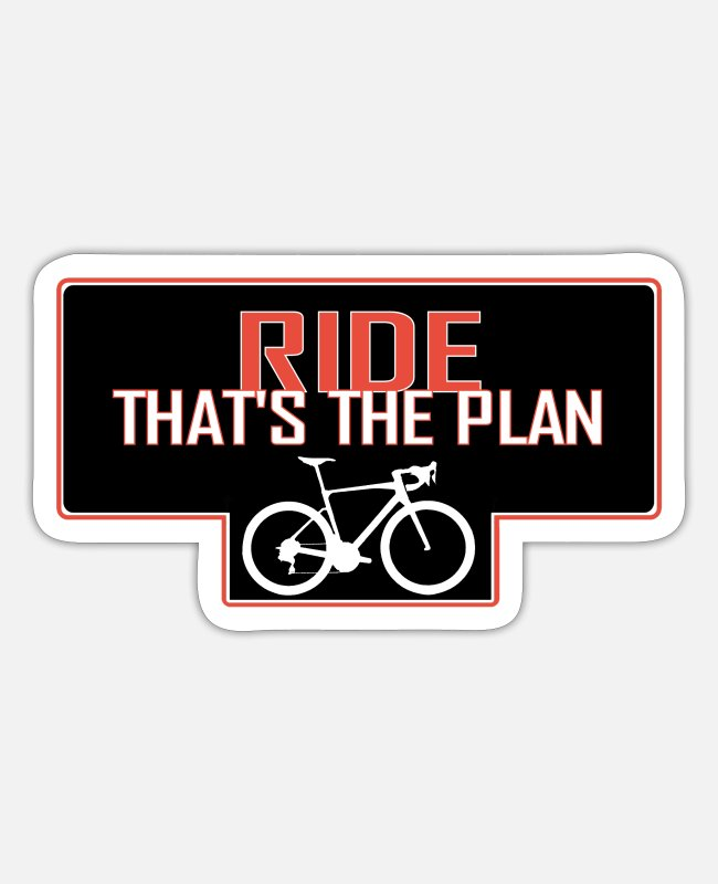 Riding Stickers - VNTS144 Ride thats the plan - Sticker white matte