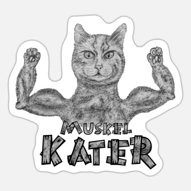Muskel Muskel Kater - Sticker