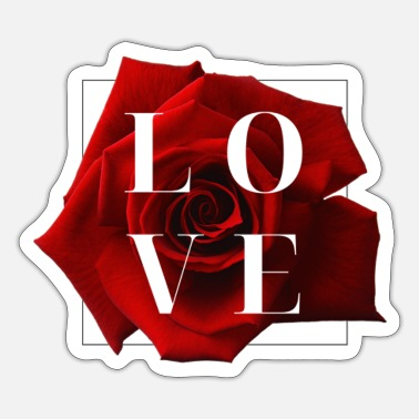Red Red Rose Love - Sticker
