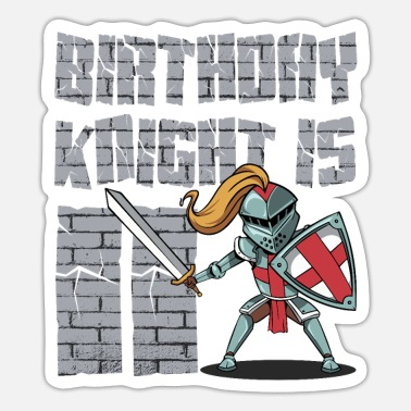 Knight Birthday Party Birthday knight gift for 11th birthday - Sticker