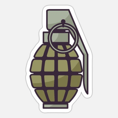 War Military Grenade - Sticker