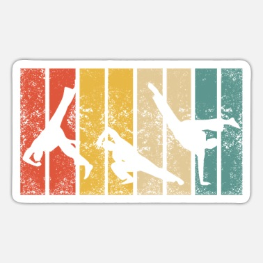 Kampsport Retro Capoeira Fight Dance Roda Brazil Martial Arts - Sticker
