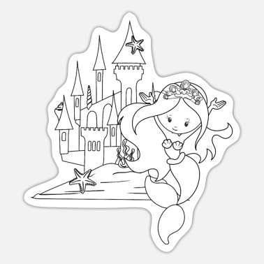 Alternative Mermaid Coloring TShirt great for children - Sticker